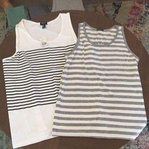 2 Men's Striped Tank Tops. Size: M